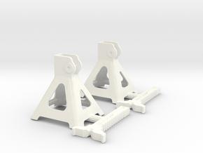 1/12 Jack Stand Pair in White Processed Versatile Plastic