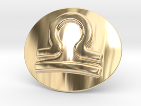 Libra Belt Buckle in 14K Yellow Gold