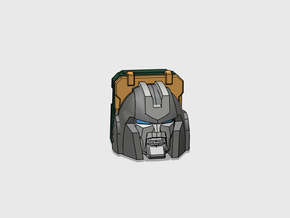 Little Heracles' Head for Energon Jeep in Smooth Fine Detail Plastic
