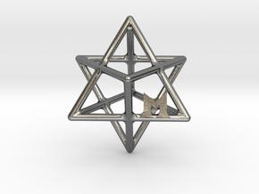 MILOSAURUS Tetrahedral 3D Star of David Pendant in Polished Silver