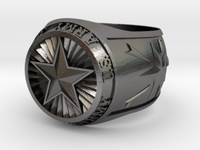 Army Ring 24mm in Polished Nickel Steel