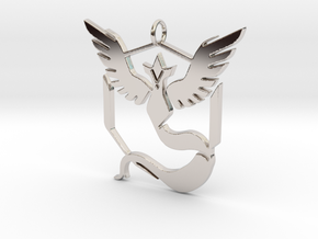 Pokemon GO: Team Mystic Pendant in Rhodium Plated Brass