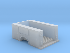 Utility Pick Up Truck Bed 1-87 HO Scale in Smooth Fine Detail Plastic