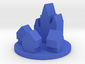 Game Piece, Medieval Europe City Token in Blue Processed Versatile Plastic