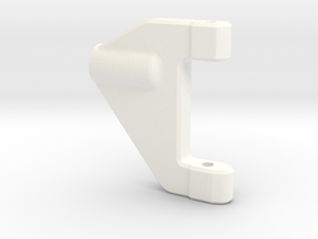 NS-UpperArm-Left-V2 in White Strong & Flexible Polished