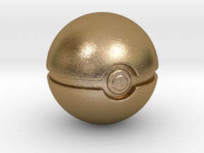 Pokemon - Pokeball in Polished Gold Steel