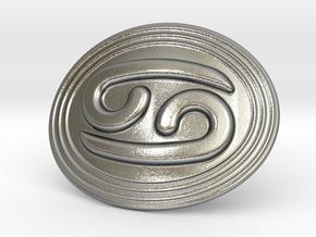 Cancer Belt Buckle in Natural Silver