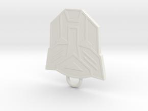 Autobot Fan Keychain in White Natural Versatile Plastic