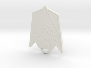 Decepticon Fan Keychain in White Natural Versatile Plastic