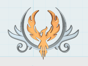 8x PhoenixCrest: Large Vehicle Insignia Set in Frosted Ultra Detail