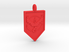 Team Valor Badge Keychain in Red Processed Versatile Plastic