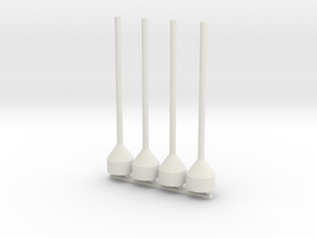 48th Scale Dan Buoy Pair in White Natural Versatile Plastic
