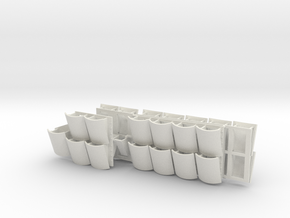 1:18 TUSK II Turret ERA Clusters REVISED  in White Strong & Flexible