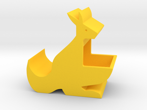 Kangaroo Mom Holder in Yellow Processed Versatile Plastic