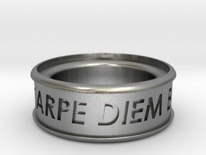 Carpe Diem Ring 5 Inch Diameter in Natural Silver