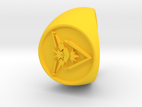 Team Instinct Signet US 12  in Yellow Strong & Flexible Polished