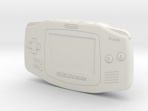 1:6 Nintendo Game Boy Advance (Indigo) in White Natural Versatile Plastic