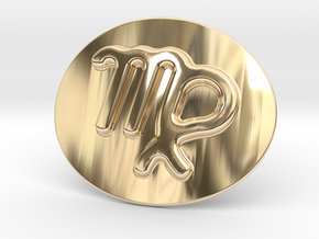 Virgo Belt Buckle in 14K Yellow Gold