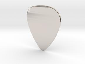 Basic 1mm Guitar Plectrum in Rhodium Plated Brass