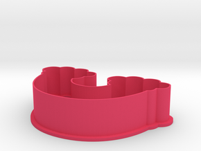 Rainbow Little Pony Series Cookie Cutter in Pink Processed Versatile Plastic
