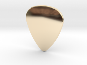 Basic 2mm Plectrum in 14K Yellow Gold
