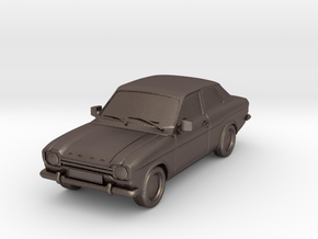 1:87 Escort mk1 2 door v1 hollow in Polished Bronzed Silver Steel