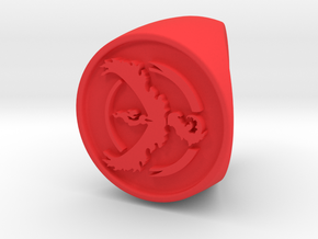 Team Valor Signet US 4.5  in Red Processed Versatile Plastic