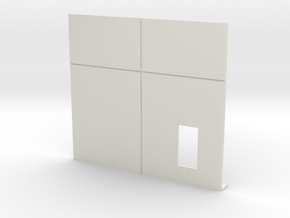 Personnel Door; Right Side in White Natural Versatile Plastic