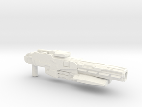 """Sentinel"" Rifle RESIZED 5mm post in White Strong & Flexible Polished"
