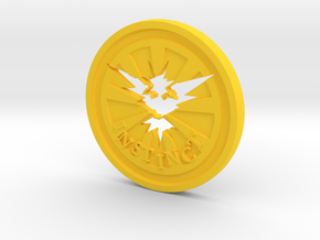 Pokemon Go Team Instinct Challenge Coin in Yellow Strong & Flexible Polished
