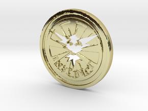 Pokemon Go Team Instinct Challenge Coin in 18k Gold Plated Brass