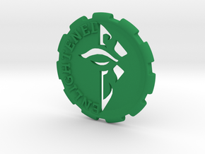 Ingress Enlightened Challenge Coin in Green Processed Versatile Plastic