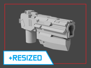 """Sentinel"" Pistol RESIZED 5mm post in White Strong & Flexible"