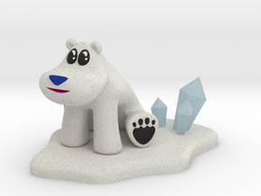 Polar Bear from Crash Bandicoot (Larger) in Full Color Sandstone