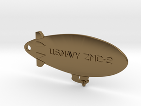 ZMC-2 Navy Blimp Keyfob in Polished Bronze