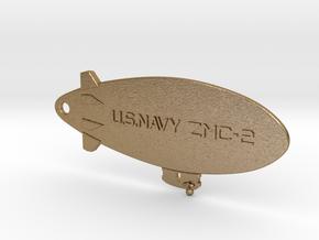 ZMC-2 Navy Blimp Keyfob in Polished Gold Steel