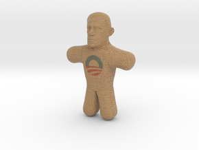 Obama Voodoo Doll - Color in Full Color Sandstone