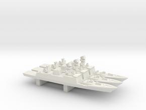 Shivalik-class frigate x 3, 1/3000 in White Natural Versatile Plastic