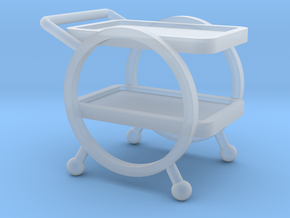 1:48 Deco Bar Cart in Smooth Fine Detail Plastic