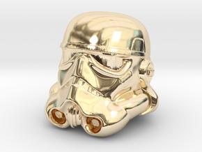 Storm Trooper Helmet  in 14K Yellow Gold