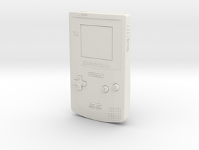 1:6 Nintendo Game Boy Color (Berry) in White Natural Versatile Plastic