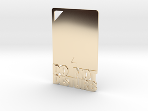 Credit Card DND in 14K Yellow Gold