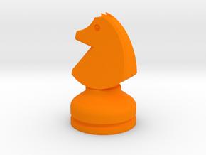 MILOSAURUS Chess MINI Staunton Knight in Orange Strong & Flexible Polished