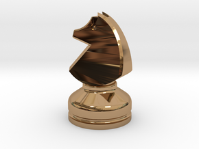 MILOSAURUS Chess MINI Staunton Knight in Polished Brass