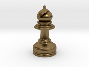 MILOSAURUS Chess MINI Staunton Bishop in Polished Bronze