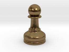 MILOSAURUS Chess MINI Staunton Pawn in Polished Bronze
