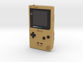 1:6 Nintendo Gameboy Light (Gold) in Full Color Sandstone