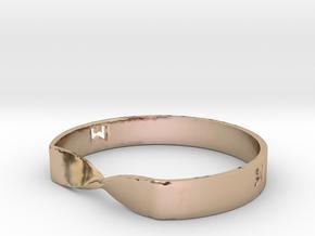 MILOSAURUS Jewelry Mobius Strip Pendant in 14k Rose Gold Plated Brass