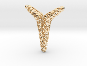 YOUNIVERSAL Structured, Pendant in 14K Yellow Gold