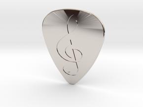 Treble Clef Plectrum - 1mm in Platinum